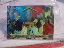 1994 Bowman's Best Baseball Card Base / Blue & Red