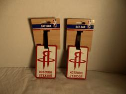2 houston rockets bag luggage tags red