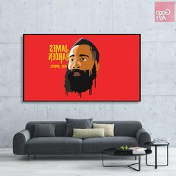 Canvas print wall art panorama photo big poster nba James Ha