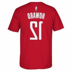 Dwight Howard Houston Rockets NBA Adidas Red Player Name & N