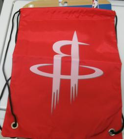 Forever Collectables Drawstring Backpack Bag NBA Houston Roc
