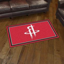 Houston Rockets 3' X 5' Decorative Ultra Plush Carpet Area R