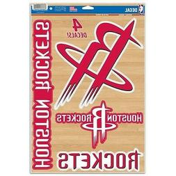 "HOUSTON ROCKETS 4 PIECE MULTI-USE DECALS 11""X17"" SHEET WINDO"