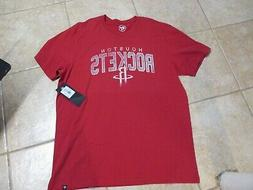 HOUSTON ROCKETS 47 BRAND MENS COTTON T SHIRT  NWT $30 RED SO