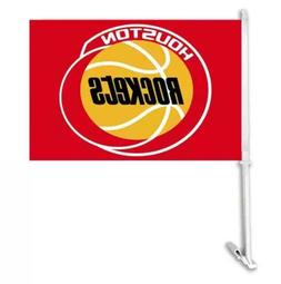 Houston Rockets Car Flag, Double Sided Window Flag, Pair of