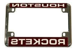 Houston Rockets Chrome Motorcycle, RV or Trailer License Pla