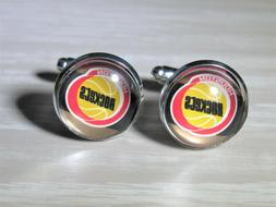 Houston Rockets Cufflinks made from Recycled Basketball Card