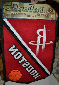 Houston Rockets Genuine Wool Blend Pennant Officially Licens