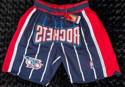Houston Rockets Just Don Jersey Shorts Embroidered