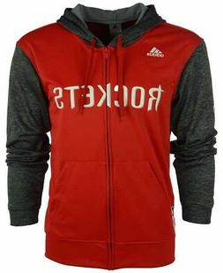 Houston Rockets Adidas Men's Red Pre-Game Full Zip Hooded Sw