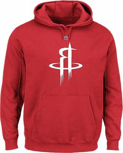 houston rockets mens red logo 2 hoodie