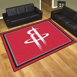 Houston Rockets NBA Area Rug Floor Carpet 8' x 10'