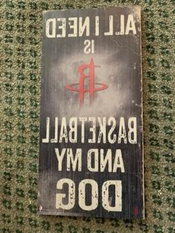 Houston Rockets NBA Room Decor Basketball Dog Wall Hanging 1