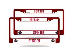 Houston Rockets NBA  Red Painted Chrome Metal License Plate