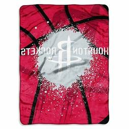 Houston Rockets NBA Shadow Play Raschel Plush 60x80 Twin Siz
