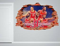 Houston Rockets NBA Wall Decal Living Room Or Room 3D Wall P