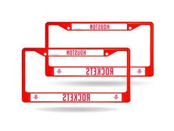 Houston Rockets Red Painted Chrome Metal  License Plate Fram