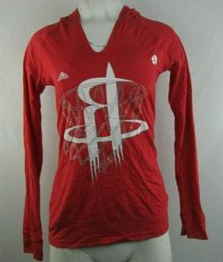 Houston Rockets Adidas Women's Pullover Hooded Red T-shirt L