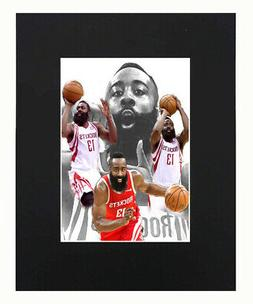 James Harden Houston Rockets Basketball NBA Sports Print Pic