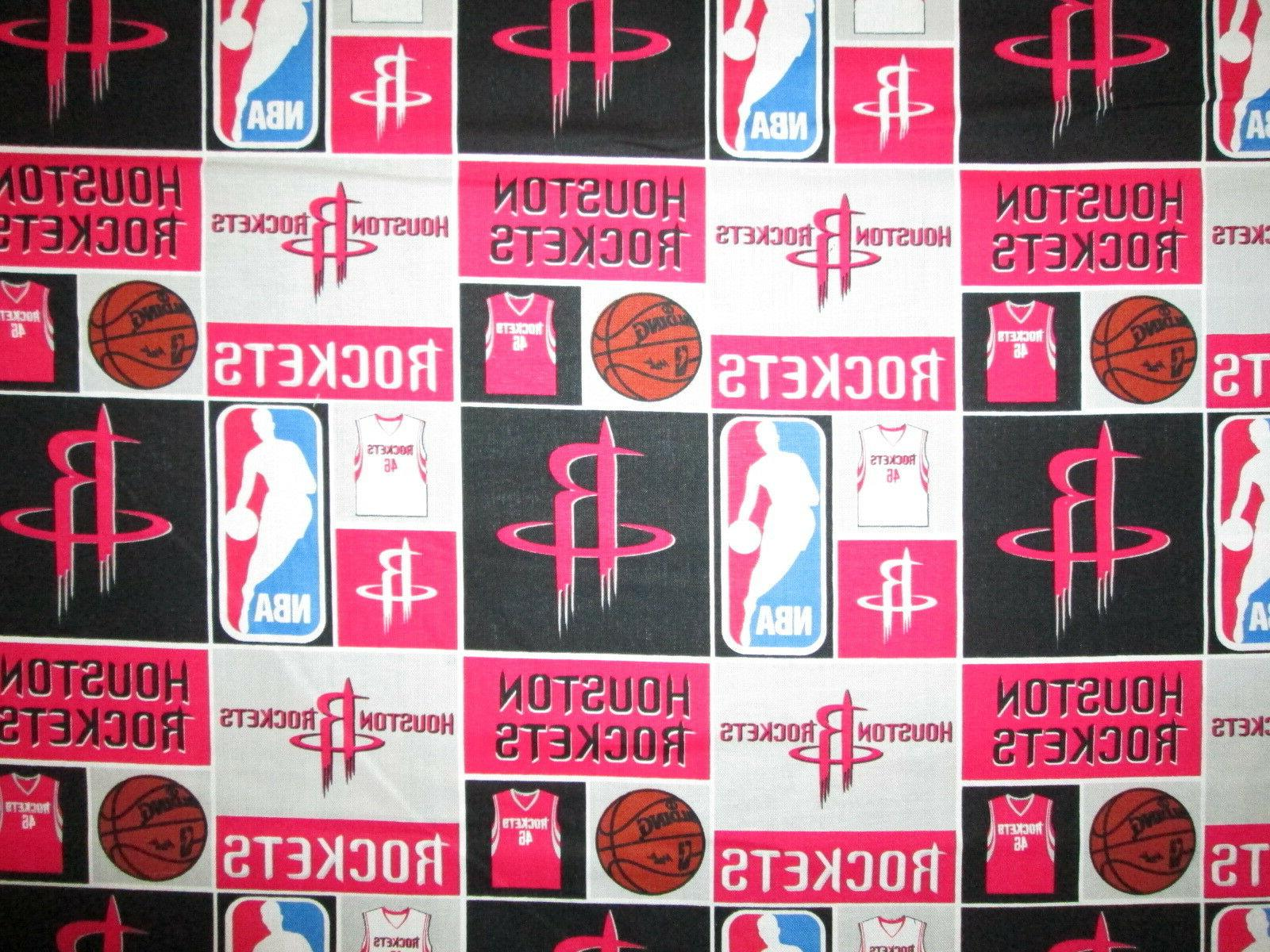 houston rockets checked nba basketball licensed quilting