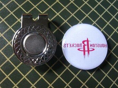houston rockets logo ball marker with magnet