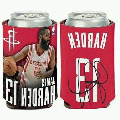 james harden houston rockets can bottle coozie