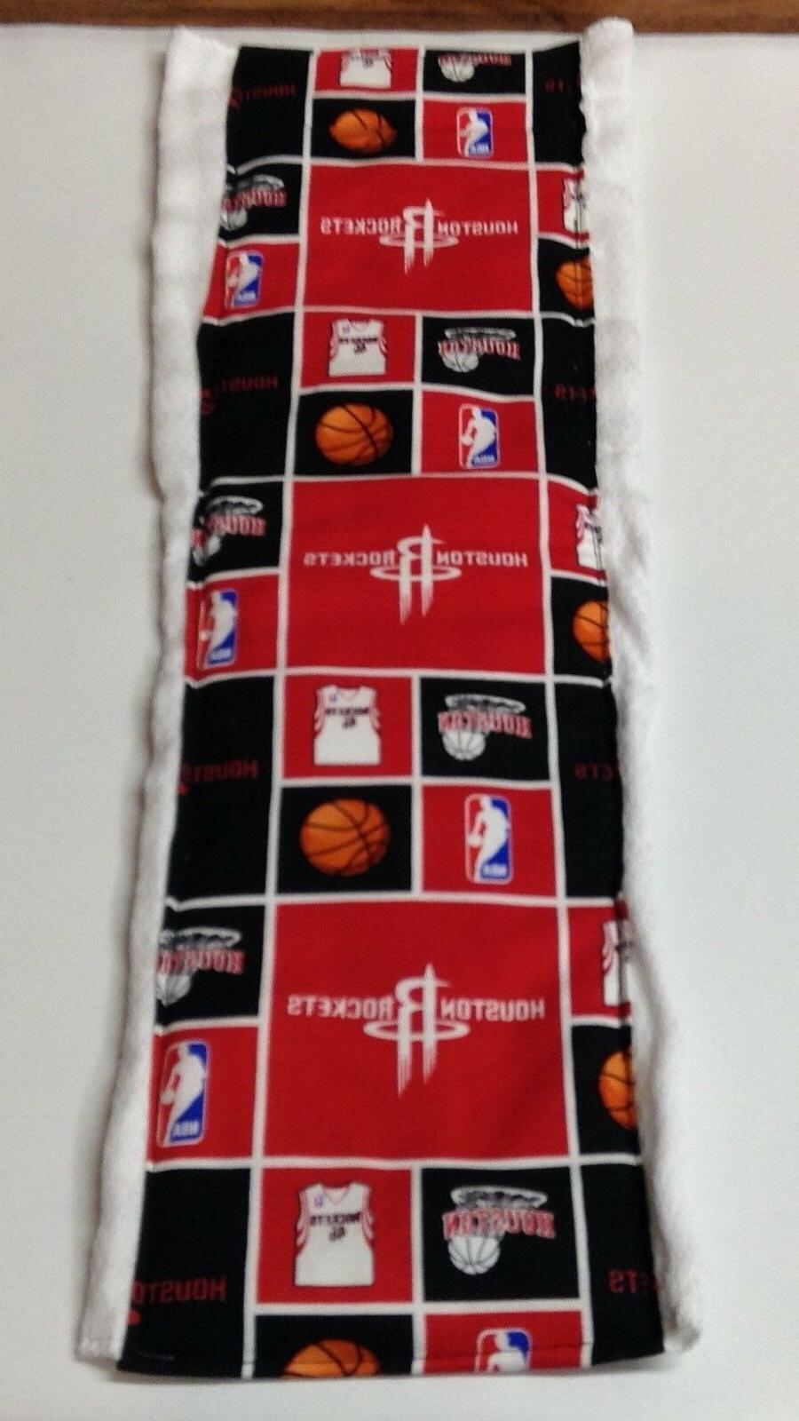 nba houston rockets burp cloth