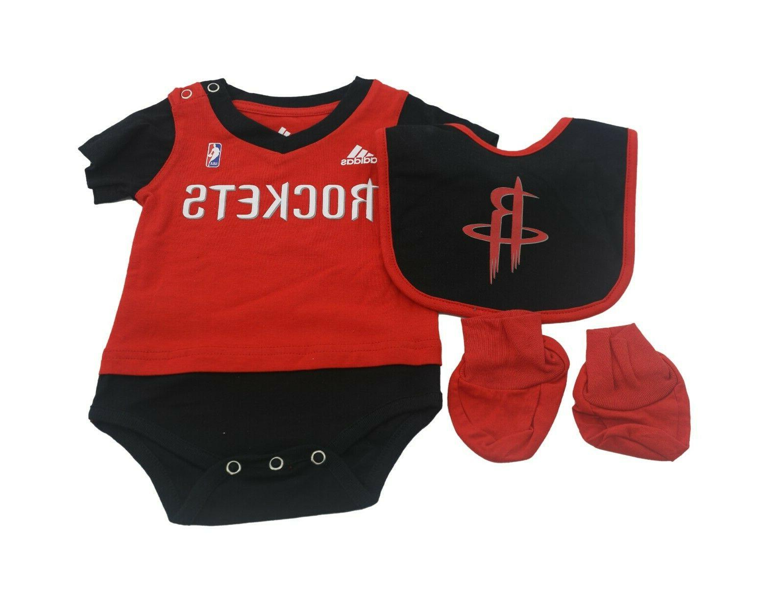 nba houston rockets infant baby 3 piece