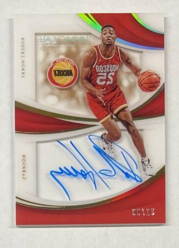 robert horry auto 2018 19 immaculate collection