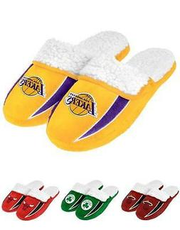 NBA 2013 Sherpa Slide Shoe Slippers - NEW! - Pick Your Team!