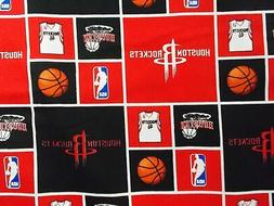 nba houston rockets fabric 100 percent cotton