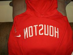 NBA Houston Rockets NIKE Red Pullover Hoodie Sweatshirt Jack