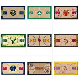"NBA Teams Court Runner Mat Area Rugs Multiple 24"" x 44"" Bask"