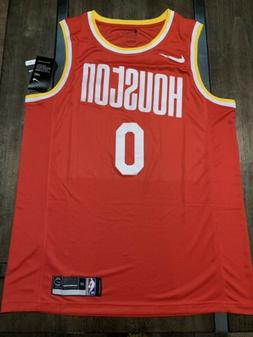 Russell Westbrook Red Houston Rockets Throwback Jersey Size