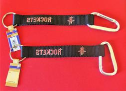 TWO  BEAUTIFUL AND HANDY, HOUSTON ROCKETS  CARABINER KEYCHAI