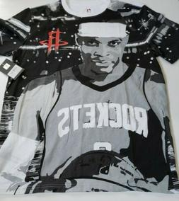 NBA UNK Russell Westbrook Houston Rockets All Over Print T-s